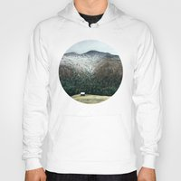 cabin Hoodies featuring Cabin in the woods by General Design Studio