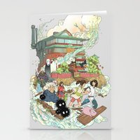 chihiro Stationery Cards featuring Chihiro by Alba Palacio