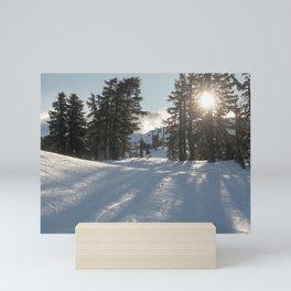 Snowy Landscape Mini Art Print
