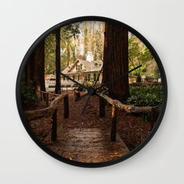 San Francisco Stern Grove Photography, Leading Lines, California Art, San Francisco Parks, Redwood Grove Decor Wall Clock