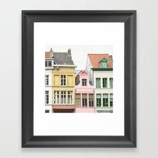 Gent Houses Framed Art Print