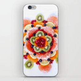 """What the Fruit"" Mandala iPhone Skin"