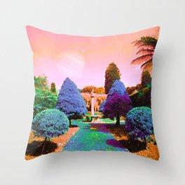 Ether Garden Throw Pillow