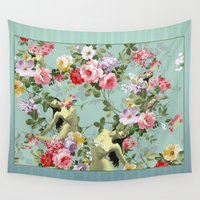 flora Wall Tapestries featuring Flora by mentalembellisher