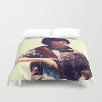 carl sagan Duvet Covers featuring Carl  by ConnorEden