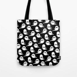 Ghost Pattern | Halloween Art | Boo | Spooky | Cute Illustration Tote Bag