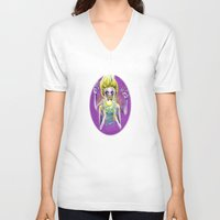 spiritual V-neck T-shirts featuring Spiritual Transformation by Kaleidoscopic