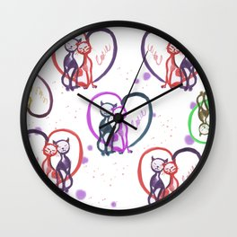 Cats love Wall Clock