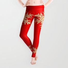 Snowflake in a Red Field Leggings