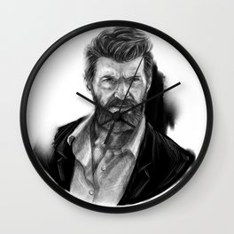 Old man Logan no.01(Hugh jackman) Wall Clock