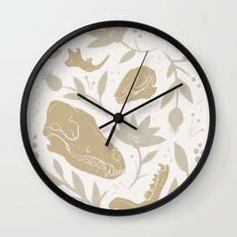 Forest Floor - Gold Wall Clock