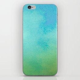 Blue & Green Watercolor iPhone Skin