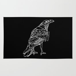 Raven White Rug