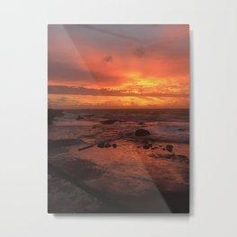 Sunset at Tanah Lot Metal Print