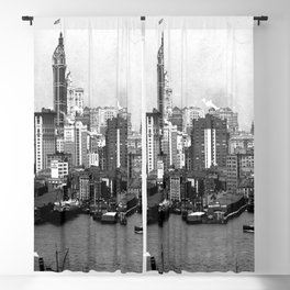 Some high buildings of lower New York. 1908 Blackout Curtain