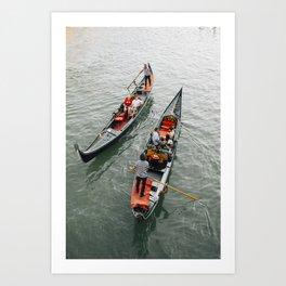 Venetian Gondola Ride Art Print