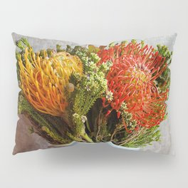Flowers in a vase - with Pincushion Protea Pillow Sham