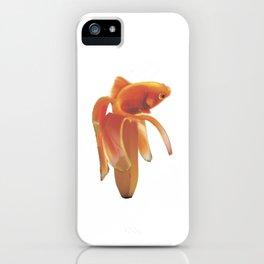 Golg Fish banana iPhone Case