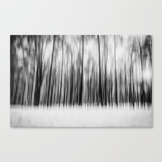 Trees | Black and White Canvas Print