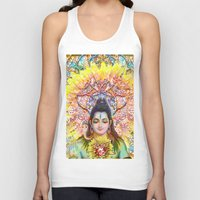 shiva Tank Tops featuring Sunflower Shiva by BradButler