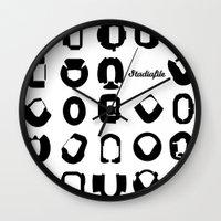 matrix Wall Clocks featuring Matrix by Stadiafile