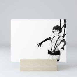 I am Robot Pen and Ink Mini Art Print