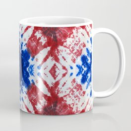 tie dye ancient resist-dyeing techniques Indigo blue red textile Coffee Mug