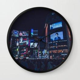 Shibuya scramble Wall Clock