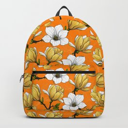 Magnolia garden in yellow Backpack