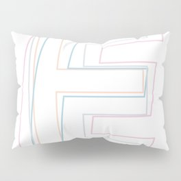 Intertwined Strength and Elegance of the Letter E Pillow Sham