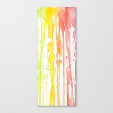 Rainbow Watercolor Texture Pattern Abstract Canvas Print