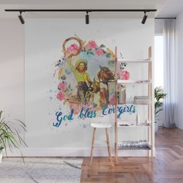 God bless cowgirls Wall Mural