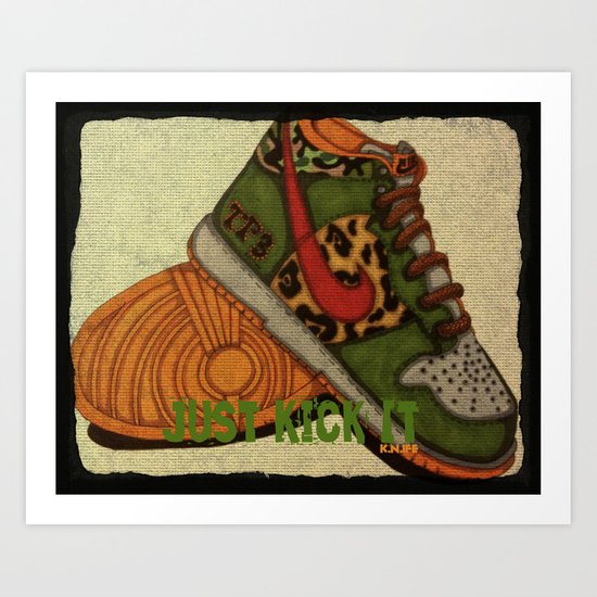 Just Kickin It! Art Print