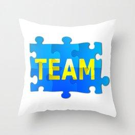 Team Jigsaw Puzzle Throw Pillow