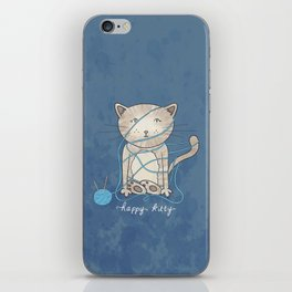 Happy Kity iPhone Skin