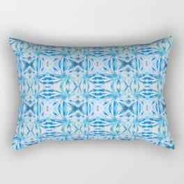 Summer Vibes Tie Dye in Lagoon Blue Rectangular Pillow