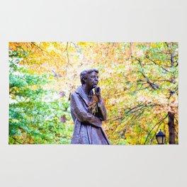 Eleanor Roosevelt Statue in Riverside Park Rug
