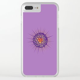 funky sea urchin with heart Clear iPhone Case