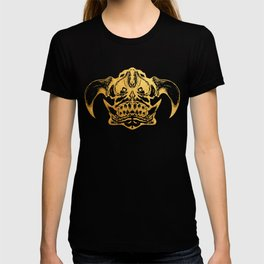 Gold Scary Fantasy Monster illustration T-shirt