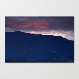 Alpine village at sunrise Canvas Print
