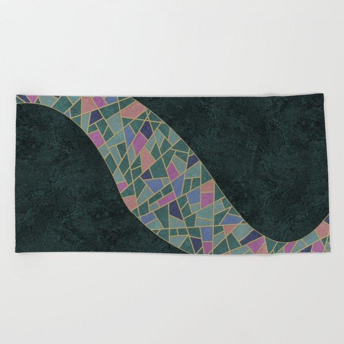 Geometric Marble 02 (abstract) Beach Towel
