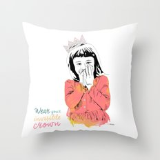The Invisible Crown Throw Pillow