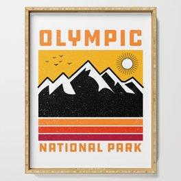 Olympic National Park Washington' Souvenir Vintage Mountain Serving Tray