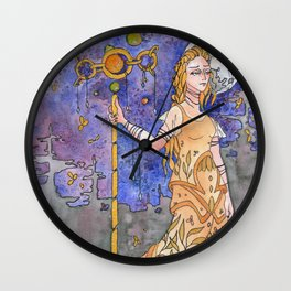 Midnight Gold Wall Clock