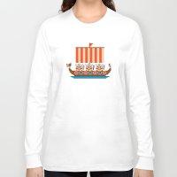 vikings Long Sleeve T-shirts featuring Vikings by PixelPower