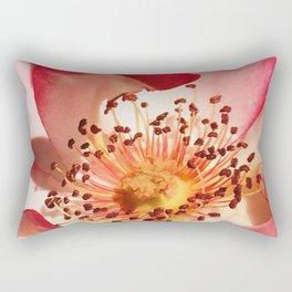 Pomagranate Red Spring Blossom Rectangular Pillow