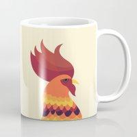 cock Mugs featuring Cock by Volkan Dalyan