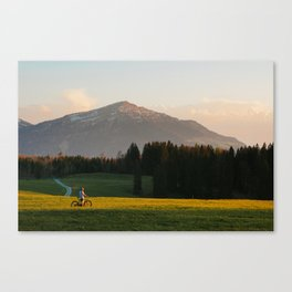 Sunset Bikeride Canvas Print
