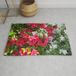 Pink & white Rhododendrons Rug