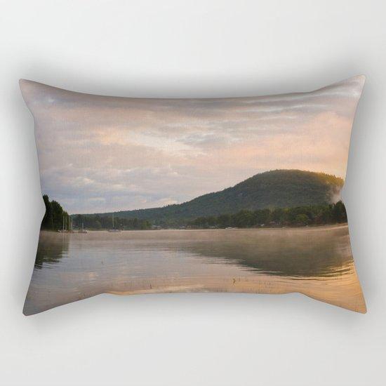 First Light (Sunrise on Lake George) Rectangular Pillow